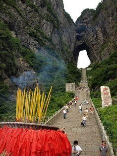 vacation travel photos - Tianmen Mountain, Zhangjiajie, China