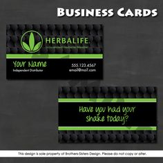 Herbalife business cards templates available at printerbees herbalife business card digital download door brothersistersdesign wajeb