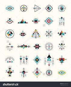 Esoteric Alchemy Boho Bohemian Sacred Geometry Tribal And Aztec Sacred Geometry Mystic Shapes Symbols StockVektorgrafik Illustration 420496150 Shutterstock Simbolos Tattoo, Body Art Tattoos, Boho Tattoos, Shape Tattoo, Temp Tattoo, Tattoo Drawings, Tatoos, Art Drawings, Motifs Aztèques