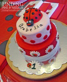 AMAZING LITTLE GIRLS BIRTHDAY CAKES | 30. Ladybug Cake ~ How to make a polka-dot lady bug cake… on the ...