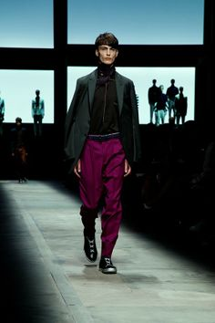 An eighties businessman takes a trip to Marrakech in jewel coloured tailoring at Ermenegildo Zegna SS15, Milan menswear. More images here: http://www.dazeddigital.com/fashion/article/20410/1/ermenegildo-zegna-ss15