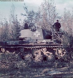 Captured, Kliment Voroshilov KV-1, russian heavy tank.