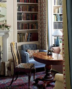 "awonderfulpalmettolife:  "" decordesignreview:  "" reading and conversation corner ~ Jeffrey Bilhuber design  """
