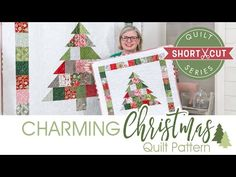 This Charming Christmas Quilt Finishes Quickly - Quilting Digest Christmas Quilting Projects, Christmas Tree Quilt, Christmas Patchwork, Christmas Quilt Patterns, Christmas Sewing, Christmas Crafts, Merry Christmas, Modern Christmas, Scandinavian Christmas