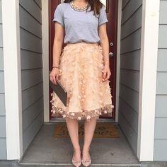 Fluttered Fete Midi Skirt #Anthropologie #MyAnthroPhoto