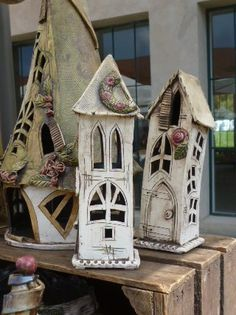 Discover thousands of images about 320 × 428 pixels Clay Houses, Ceramic Houses, Ceramic Clay, Ceramic Pottery, Houses Houses, Fairy Houses, Ceramics Projects, Clay Projects, Clay Crafts