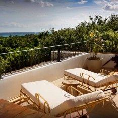 Rooftop terrace views of the Caribbean at Hotel La Semilla via The Venue Report #wherewillyoucelebrate