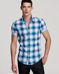 J.Crew - Short-sleeve shirt in Japanese indigo chambray   Clothes ...