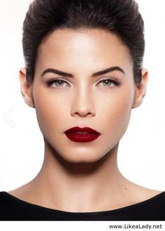 Red lips, great brows and lotsof lashes