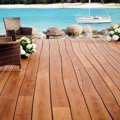Solid wood flooring from Bolefloor - wood floors doctorate for a natural life down Outdoor Wood Flooring, Natural Flooring, Solid Wood Flooring, Wood Planks, Hardwood Floors, Parquet Flooring, Terrace Floor, Wooden Terrace, Curved Wood