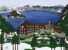 Crater Lake National Park by International Artist Jennifer Lake. All copyrights owned by Avocet International LLC.
