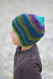 Quynn by Woolly Wormhead for Riverside Studio 1 ply merino worsted. This my all time favorite hat pattern for kids. One skein will make any size