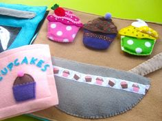 Baking Cupcakes Quiet Book Page -- this woman has the BEST quiet book patterns anywhere!
