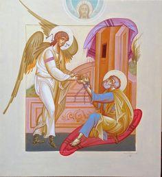 George Kordis Byzantine Icons, Byzantine Art, Writing Icon, Orthodox Christianity, Orthodox Icons, Sacred Art, Religious Art, Worship, Artwork