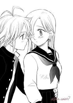 Bite Me - Melizabeth de undefined Elizabeth Seven Deadly Sins, Seven Deadly Sins Anime, 7 Deadly Sins, Anime Couple Kiss, Anime Couples Manga, Cute Anime Couples, Meliodas And Elizabeth, Elizabeth Liones, Cute Anime Pics