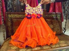 Kid Frock with Sequins Yoke | Indian Dresses