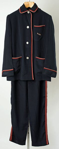 French Silk Pajamas, 1950's