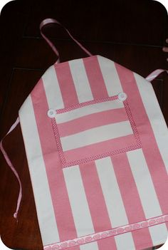 Party Favor for Dominic's Birthday.  I'm using striped kitchen towels for the accents.