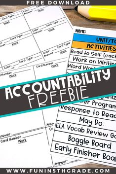 Get a FREEBIE to help keep your students accountable during independent centers!  Read this blog post that gives great ideas and strategies to keep your students accountable for their work and behavior during centers.  Great tips to use during math centers