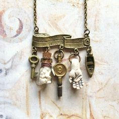 Taking Measures - fabulous charm necklace from Etsy, comedaygoday