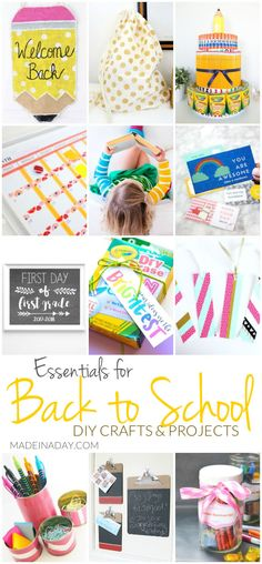 Essentials for Back to School DIY Crafts and Projects | Made in a Day