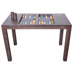 Lizard Embossed Backgammon Table by Karl Springer | 1stdibs.com