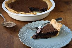 Chocolate Chess Pie is a wonderful riff on the classic Southern Chess Pie, especially for you chocolate lovers. Serve with whipped cream and a glass of ice cold milk.