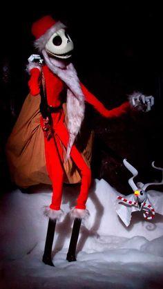 Jack Skellington in haunted mansion ride in Disneyland during Halloween