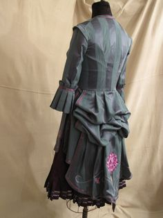 Hand-Embroidered Steampunk Bustle Suit -- this is *gorgeous*. $350.00