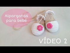 Sandalias de verano para bebé a Crochet - Parte 2 - YouTube