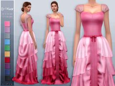 Inspired by Hermione Granger's Yule Ball dress. Found in TSR Category 'Sims 4 Female Formal' Source by dahaket formal Hermione Dress, Harry Potter Dress, Harry Potter Outfits, Los Sims 4 Mods, Sims 4 Game Mods, Sims 4 Mods Clothes, Sims 4 Clothing, Sims 4 Dresses, Ball Dresses