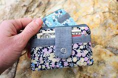 Cute little zipper wallet tutorial.