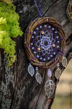 """Купить Ловец снов """"Fairy purple"""" - фиолетовый, ловец снов, ловец сновидений, ловец"""