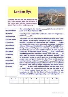 London Eye (Reading Comprehension)