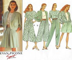 90s Evan Picone Butterick Sewing Pattern 5375 by CloesCloset #vogueteam #vintage #sewing