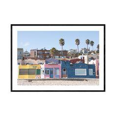 Capitola Beach, Vintage Beach Decor, Large Wall Prints, Glass Printing, Coastal Wall Art, Beach Print, Landscape Prints, Beach Photography, Venetian