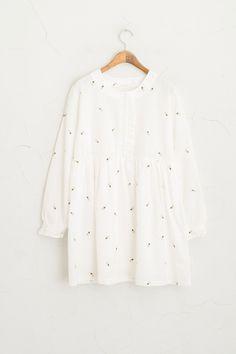 Dandelion Stitch Dress, Ivory