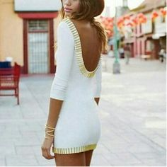 super cute dress with gold beading