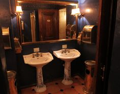 Toilette in traditional restaurant in Moscow
