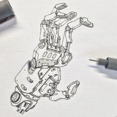 Robot Hand, Robot Parts, Character Design Cartoon, Robots Characters, Armadura Medieval, Arte Cyberpunk, Robot Concept Art, Ex Machina, Robot Design