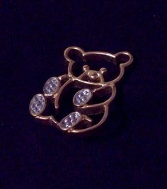 Vintage Avon TEDDY BEAR Pin ~ goldtone with silvertone paws  EUC #Avon #teddybear #bear #jewelry #pin #brooch #vintage #freeshipping #eBay