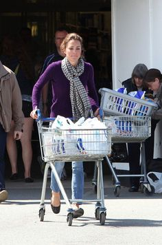 Catherine, the Duchess of Cambridge, shops at a Tesco Supermarket in North Wales near to the RAF base where her husband Prince William works as a Search and Rescue helicopter pilot. Catherine spent over 30 minutes in the store pushing a trolley around and then loading up her shopping in the back of her car.