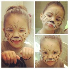 Cheetah face paint More