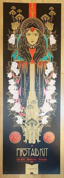 2014 First Aid Kit - Melbourne Concert Poster by Ken Taylor