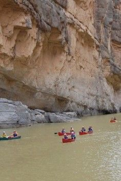 Santa Elena Canyon, kayak through 1500' cliffs - texas