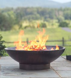 Our new favorite! Love the simple, elegant design. Handmade Recycled Metal Fire Pit Bowl - crafted in Bali by local artisans.