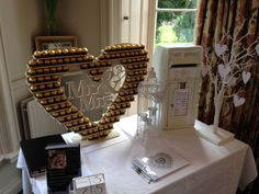 Available to Hire Stunning Ferrero Rocher Heart dispaly