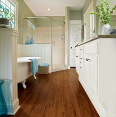 """Exotic Fruitwood - Espresso - for a more uniform look, less """"planky"""" - FYI, it's vinyl!"""