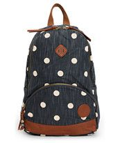 Roxy Wild Outdoors Blue Black Mini Backpack