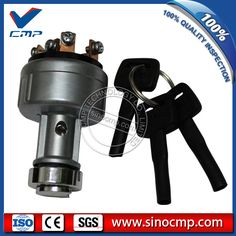 Excavator Starter Motor switch 08086-10000 with 6 pins for Komatsu PC200-1 PC200-2 PC200-3 PC200-5